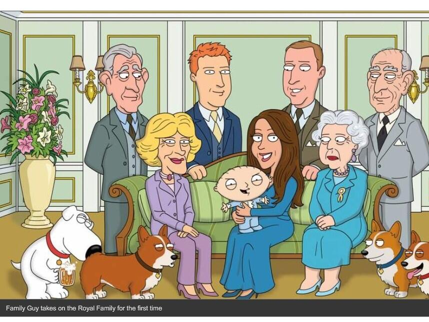 family guy and the british royal family