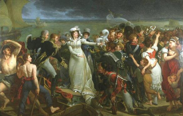 marie therese embarks at pauillac 1815
