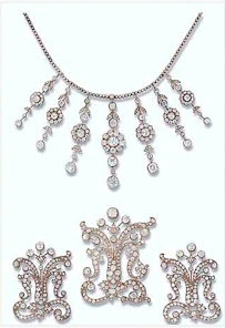 Poltimore necklace and brooches
