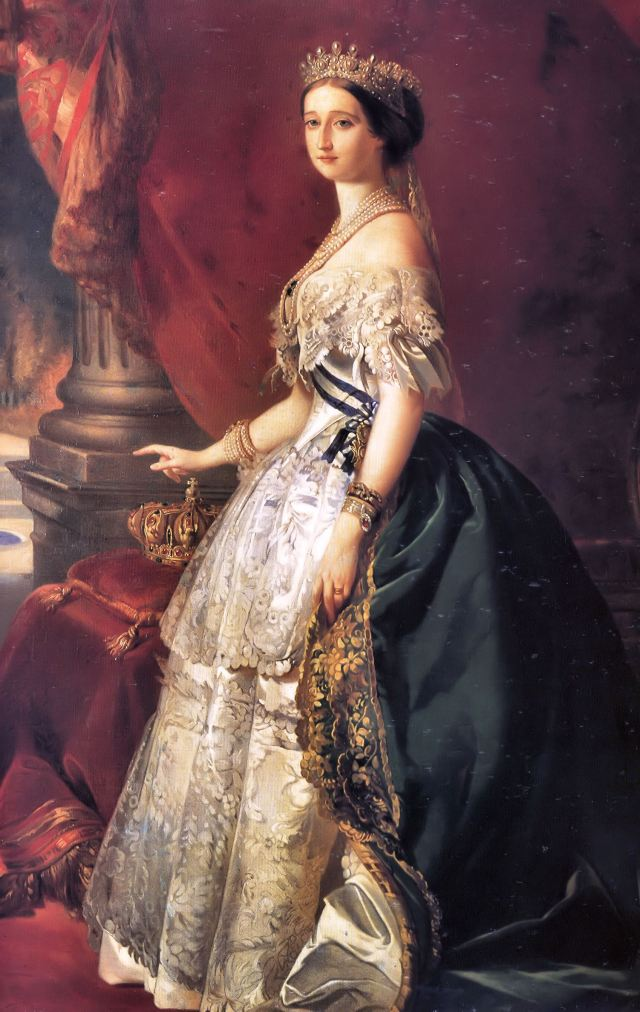 Portrait of Empress Eugenie by Franz Xaver Winterhalter