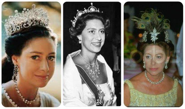 princess margaret in the poltimore tiara collage