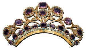 19th century amethyst tiara