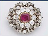 brooch from french crown jewels ruby parure