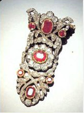 brooch from ruby parure or maybe a piece of the rosary