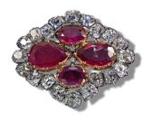 brooch from the Ruby and Diamond parure