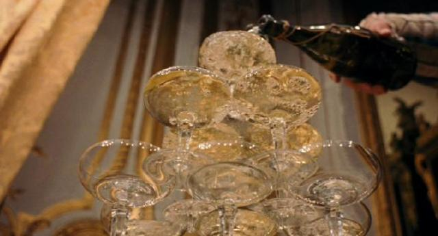the towering coupe glass champagne pyramid