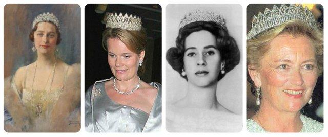 full nine provinces tiara astrid, magrethe, fabiola, paola