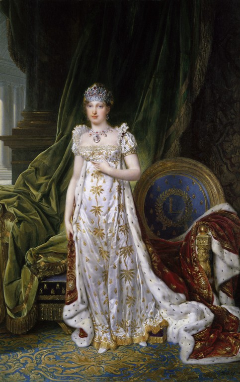 Marie Louise wearing the Ruby and Diamond Parure