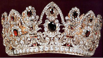 ruby and diamond ninot tiara replica