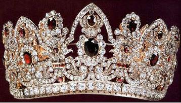 ruby and diamond ninot tiara replica