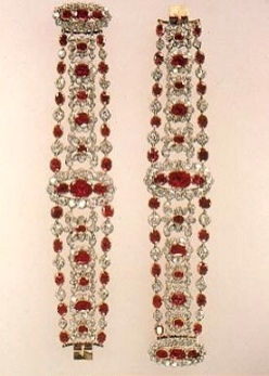 bracelets from Marie Terese's Ruby and Diamond Parure