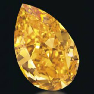 "a rare fancy color diamond aptly dubbed ""the Orange."""