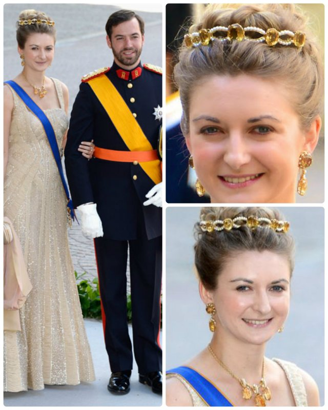 hereditary grand duke guillaume and stephanie at Swedish Royal wedding