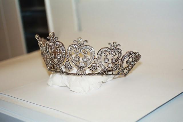 manchester tiara on display