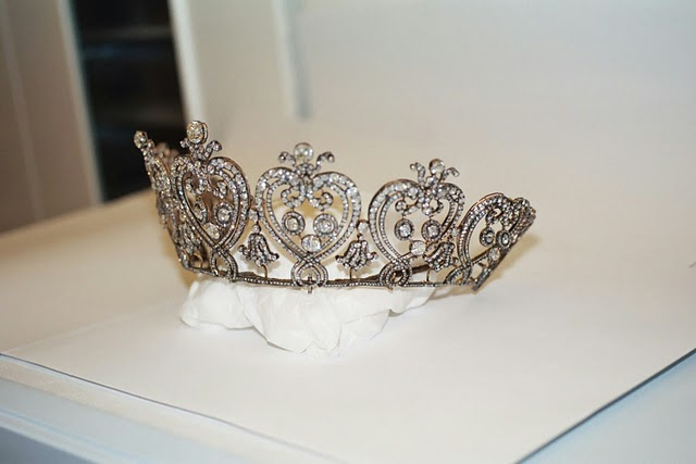 manchester tiara on display