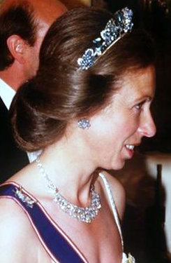 Princess Anne Pine Flower Tiara profile