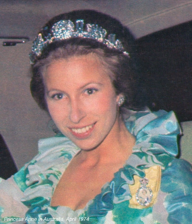 princess anne pine flower tiara 1974