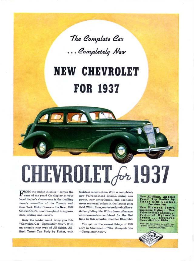 1937 Chevrolet ad