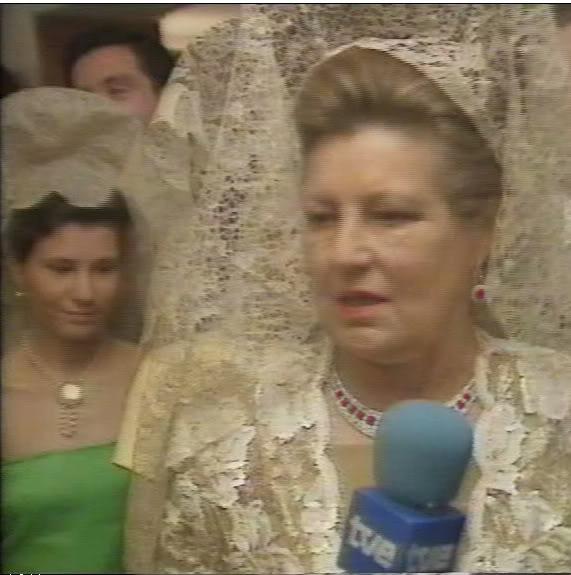 marchioness of laula at infanta elena's wedding