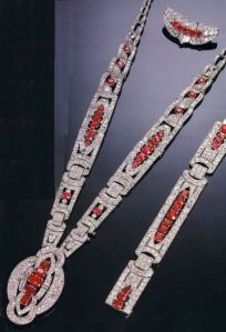 matching ruby and diamond satoir necklace marques de laula