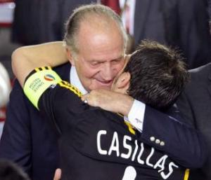 king juan carlos and iker casillas 2012
