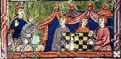 raymond of poiters playing chess