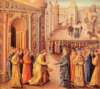 Raymond of Poitiers Welcoming LouisVII and Eleanor of Aquitaine in Antioch