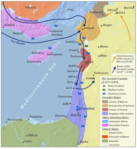 Route Second Crusade Antioch