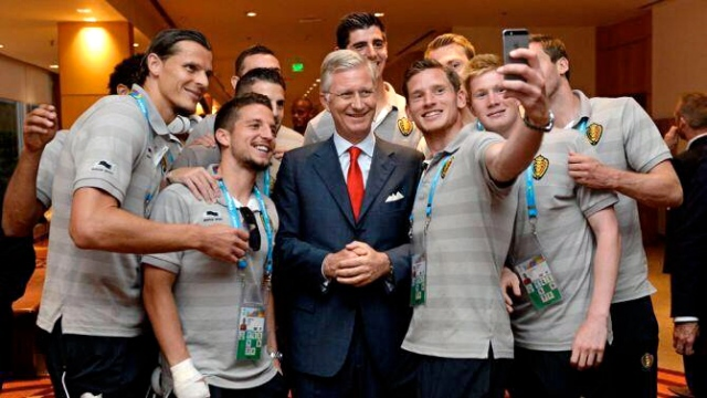 Belgium World Cup Squad takes selfie King Phillipe of Belgium selfie