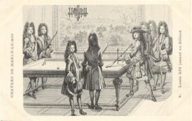 louis xiv shooting pool at Chateau de Marley-le-Roi