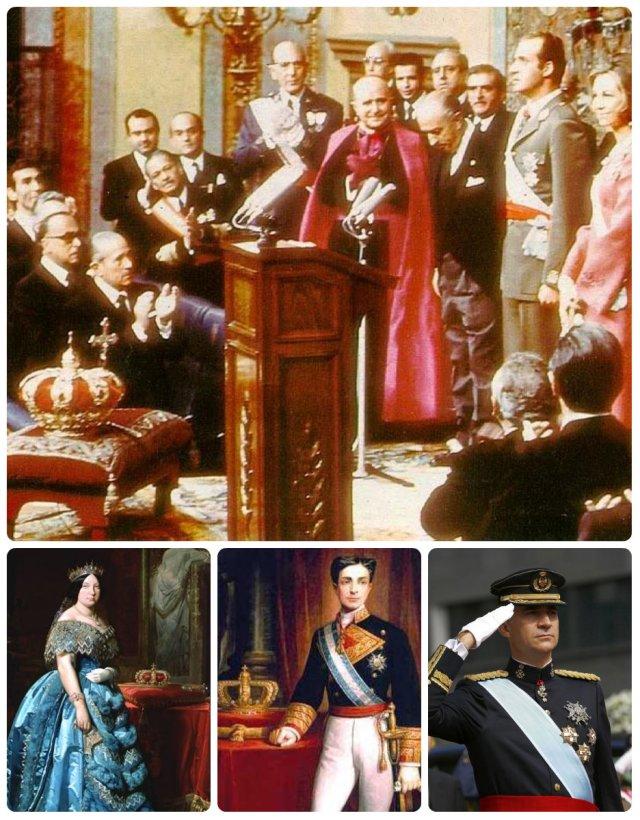 coronation juan carlos, isabel ii, alfonso xii, felipe vi