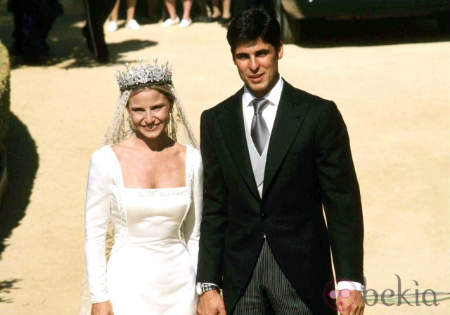 wedding of Francisco Rivera Ordoñez and Eugenia Martinez, daughter of the duchess of alba