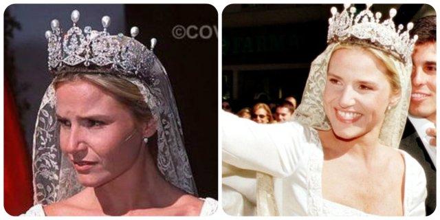 alba wedding tiara eugenia 1998