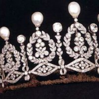 just a little more of the Alba Diamond and Pearl Tiara