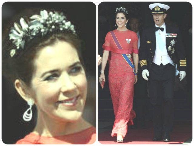 crown princess mary in midnight tiara at Swedish Wedding 2013