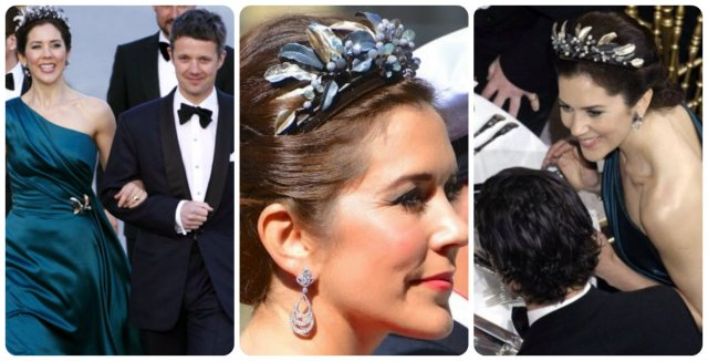 crown princess mary in midnight tiara at margrethe's 70th birthday