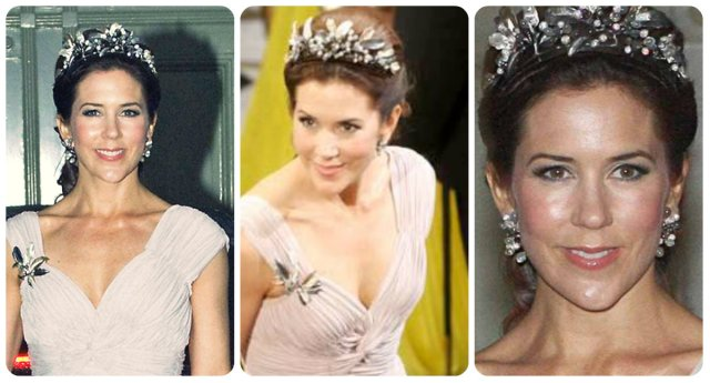 crown princess mary midnight tiara Prince Henrik's 75th 2009