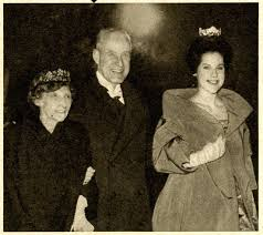 dagmar with family in floral tiara