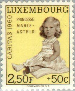 Princess-Marie-Astrid postage stamp 1960