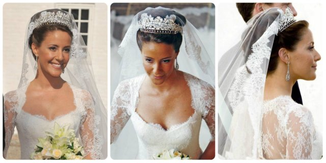 princess marie of denmark wedding floral tiara
