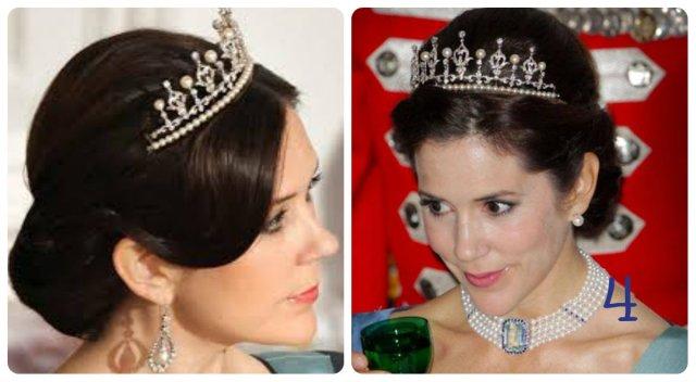 princess mary wedding tiara with pearls