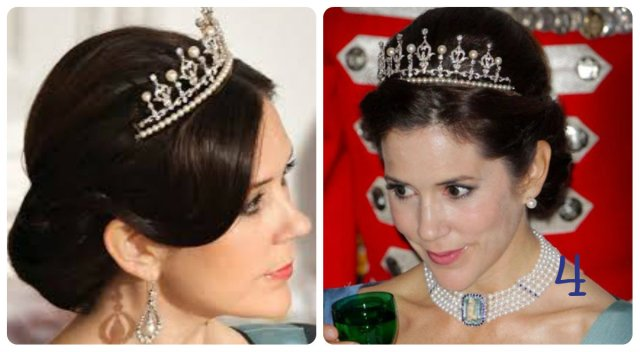 princess mary wedding tiara with pearls