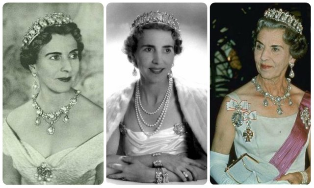 queen ingrid of sweden in the pearl poiré tiara