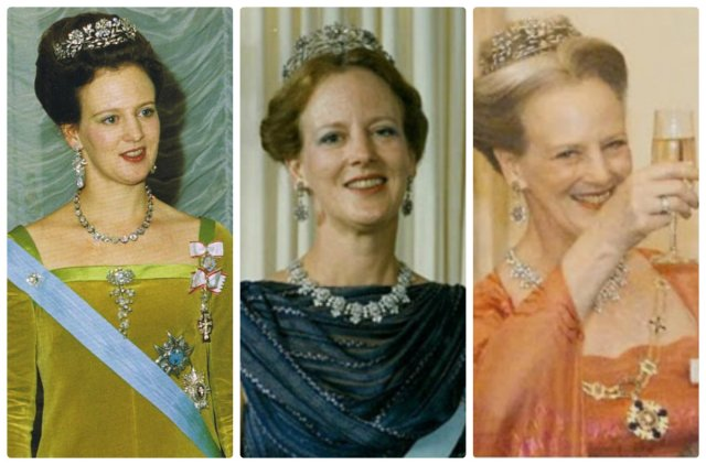 queen margrethe in the dagmar floral tiara
