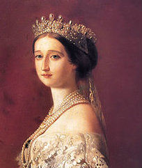 empress eugenie in the diamond and pearl tiara