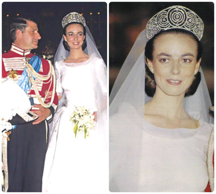 alba ruse art deco tiara 1988 wedding