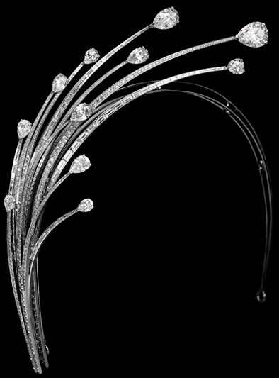 diamond foam aigrette tiara