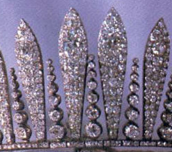 hapsburg fringe tiara closeup