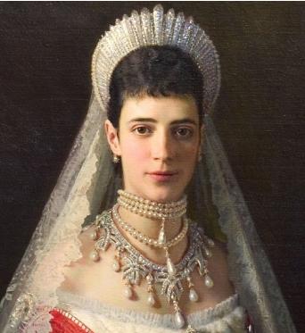 maria fedorovna russian kokoshnik spike tiara