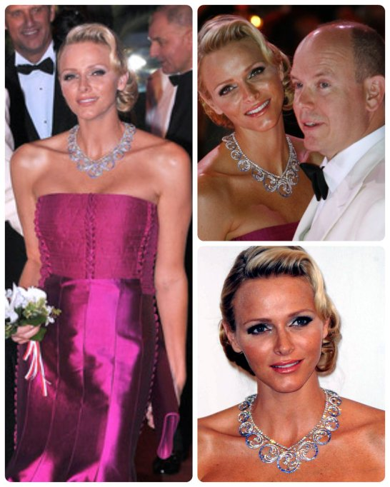 princess charlene ocean tiara necklace 2011 red cross ball